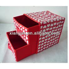 2 drawer non-woven fabric storage box, Socks/Bra/Ornament container(BBHT001)