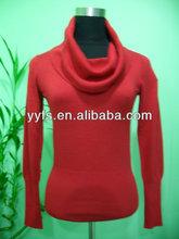 IN stock - The viscose/nylon high neck soft hand feel elegant knit women dress