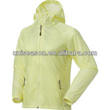 Windproof waterproof nylon womens rain wear