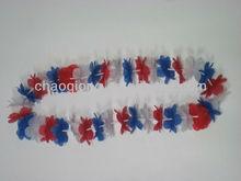 red blue white fashion decorative artificial flower bracelet