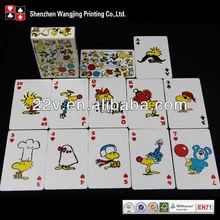 Doppia faccia giocare a carte, carte da gioco educativo, intrattenimento carta da gioco