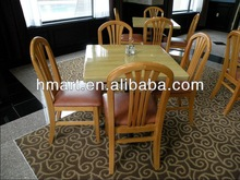 Hotel Solid Wood Table And Chair Sets