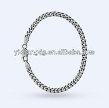 Darker Finish Curb Oxidised Bracelet