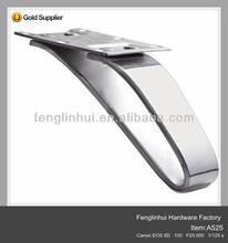 modern chrome metal caps for furniture legs A525