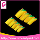 Yellow Nail Tip French Full Cover ABS Plain Artificial Nails