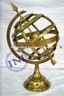 Metal decorative sphere, Indian armillary sphere, Armillary sphere sundial