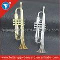 Atacado agradável gravura Hottest nota da música do Metal ornamentos / trompete instrumento Musical decoração para presentes da graduação / Souvenir