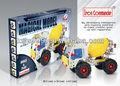 187 pcs DIY bloco de Metal montar brinquedo caminhão de cimento STP-210098