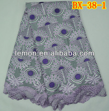 Top quality swiss cotton lace fabric for garment in stock hot sell style