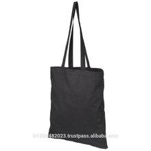 Black cotton tote bag