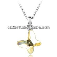 Usine meilleures ventes shell collier en cristal, Bijoux collier de naissance anneau pendentif