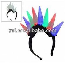 Party Glow Headband W Flashing Led Light or Mohawk Head Decoration