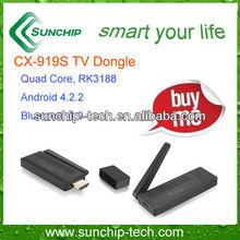 Mini PC Quad core smart TV dongle, Android 4.2, bluetooth, 1080P