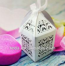 2014Teda Filigree Paper crafts wedding favor candy boxes