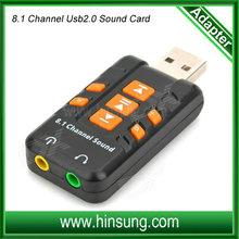 Good quality 8.1 Channel USB 2.0 Sound Card