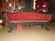 Colonial Ebony Antique Sofa