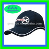 100% cotton fashion 6 panel embroidery navy baseball cap with stripe
