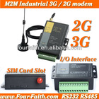 F2414 wcdma/hsdpa/hsupa modems serial port rs232 3g modem I/O SCADA 3G RS232/RS485 industrial 3g modem