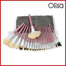 Olisa A2422 goat hair cosmetic brush roll bag