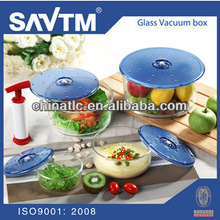 Round vacuum food container