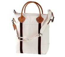 Cotton executive bag with leather belt