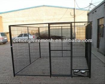Powder Coated Large Steel Dog Kennel/Outdoor Dog Kennel(Factory)