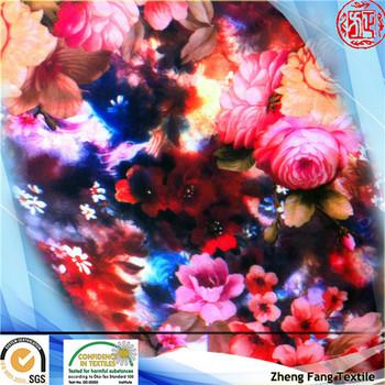 2014 new design digital print silk chiffon flower printing chiffon scarf for lady