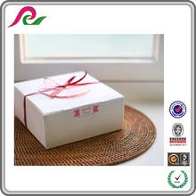 Hot sell white kraft paper gift box for cupcake packaging