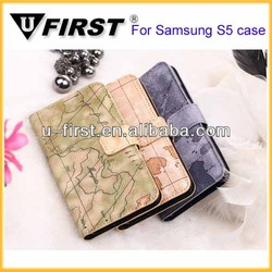2014 Factory price PU leather case for Samsung galaxy S5