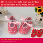 2014 new arrival,best sell hot sale high quality low price newborn baby, fashion lovely baby dress shoes with leoport