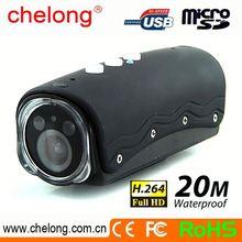 5 MP COMS 1080P IP68 20m waterproof Action Sport Helmet motorcycl mini sports dvr helmet