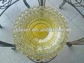 Placa de vidro colorido, prato de vidro, louça de vidro