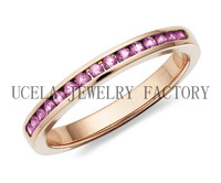 Pink Sapphire Ring funny pink gold engagement rings in 916 gold