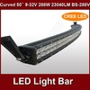 hotsale 50inch 288w spot flood combo beam led light bar truck 12v BS-288V