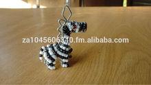 Zebra Wire beaded Key Chain