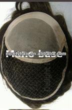 Fish net toupee for men,QINGDAO