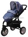 tres ruedas de aire de aluminio 3 en 1 bebé cochecito b856 azul