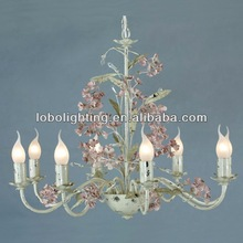 Best seller colored glass chandeliers fake crystal chandelier