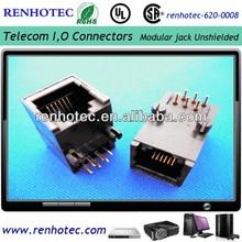 Modular jack 6P6C RJ45,RJ11, RJ12 connector
