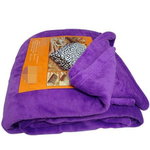 King Size Purple Color All Seasons Solid Warm Throw Blanket