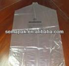 cheap pvc plastic garment packing bag ,suit bag, plastic suit cover use in laundry shop