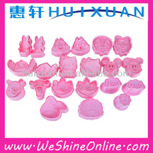 yiwu stock NEW Plastic cartoon cookie cutters/mould/stamps promotion gifts cookie decorating tools