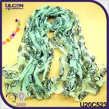 Pashmina manufacturer/fashion shawl for woman/rose print scarf
