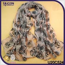 Pashmina manufacturer/wholesale scarves maxi/rose print scarf