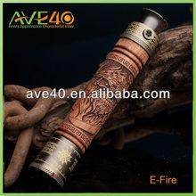 atom e cig e-fire wooden e cig starter kits china