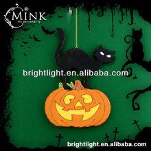 2014 hot sales cheap Halloween EVA pendant cat with pumpkin