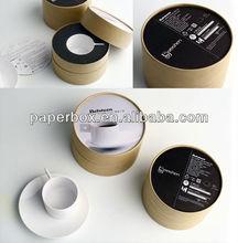 drinking cups black foam insert kraft gift tube