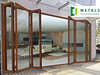 commercial and house used folding door aluminium design exterior used