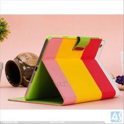 Laptop Couple Colors pu leather case cover for ipad mini 2