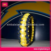 3 color cool top quality football team paracord bracelet